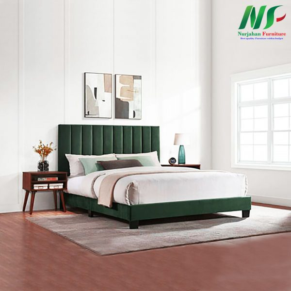 bed with bedside table: bd-613
